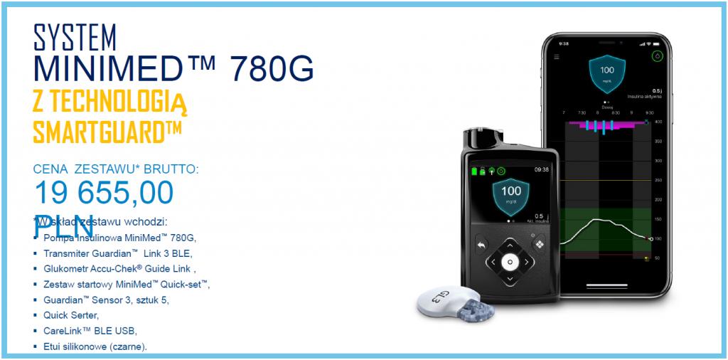 Cena pompy MiniMed780G - oferta