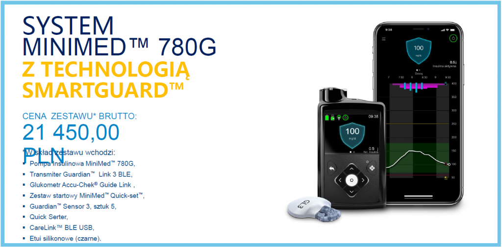 Cena pompy MiniMed 780g - oferta 1