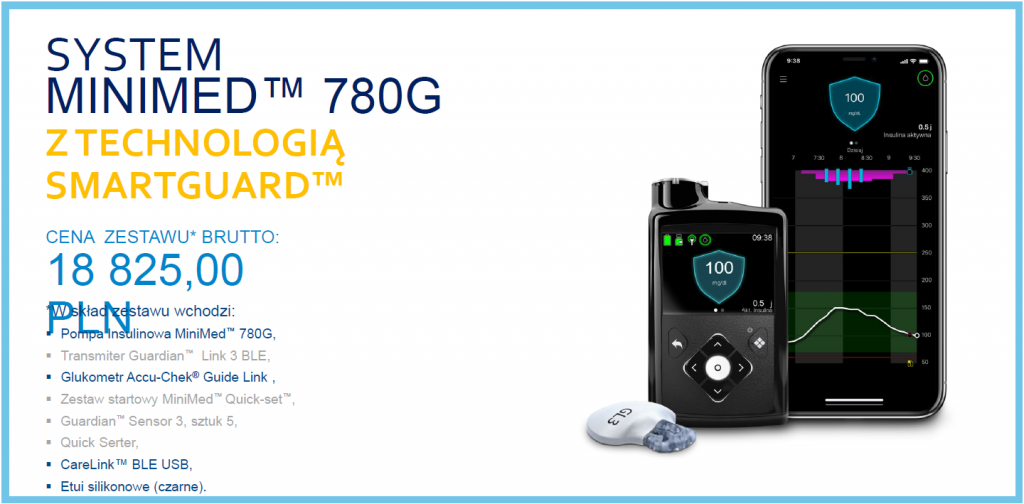 Cena pompy MiniMed 780g - oferta 3