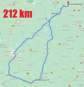 Trasa 212 km na rowerze w trybie Smart Guard