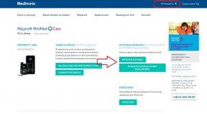 Portal pacjenta firmy Medtronic (można reklamować sensory i klips)